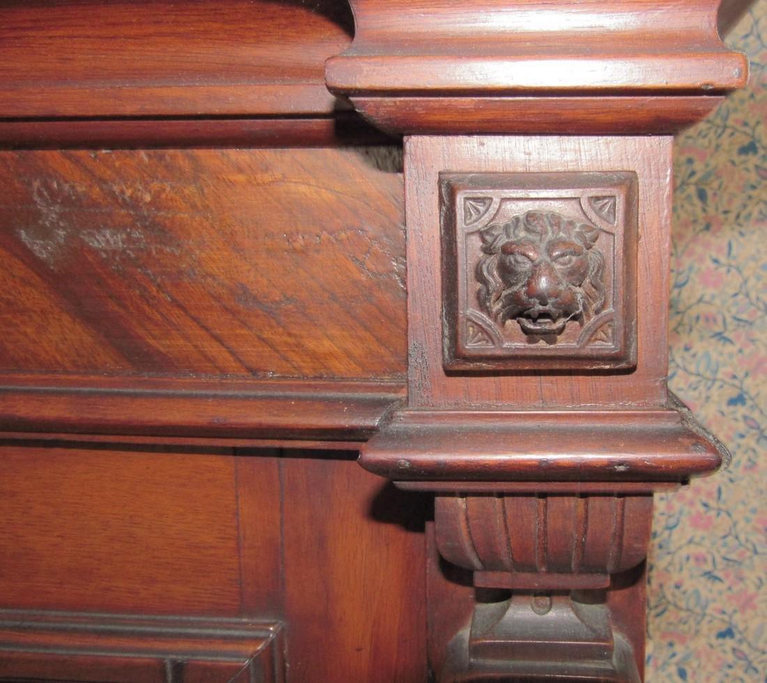Victorian 2 Door 2 Drawer Bookcase - 7