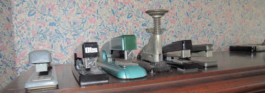 Vintage Staplers Pen Holders Desk Top Items
