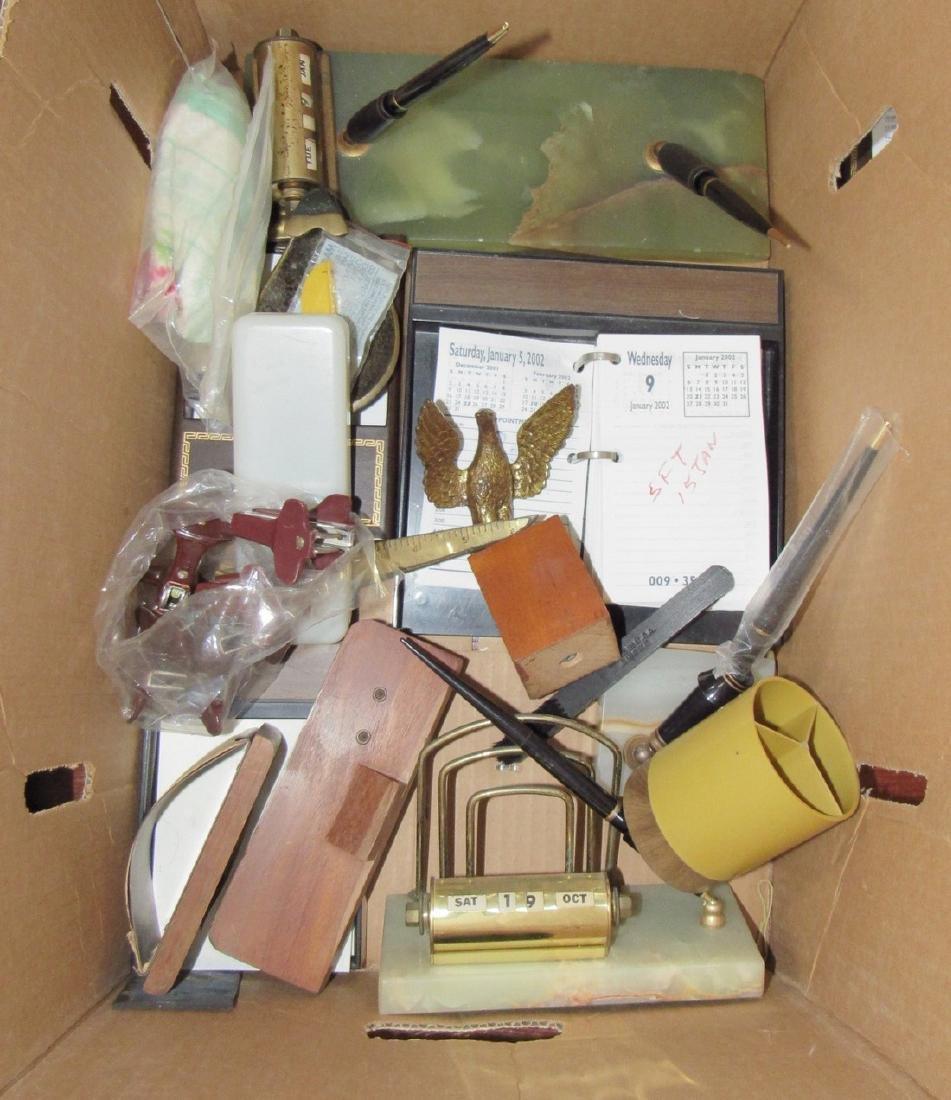 Vintage Staplers Pen Holders Desk Top Items - 3