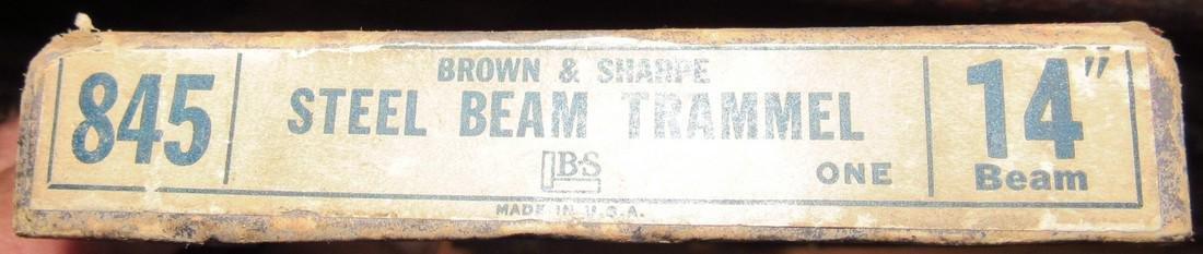 "Brown & Sharpe 845 Steel Beam Trammel 14"" Beam - 2"