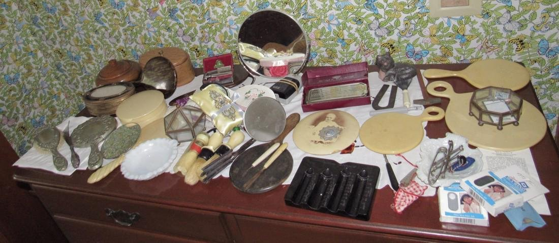 Vanity Mirrors Shaving Brushes Trinket Boxes