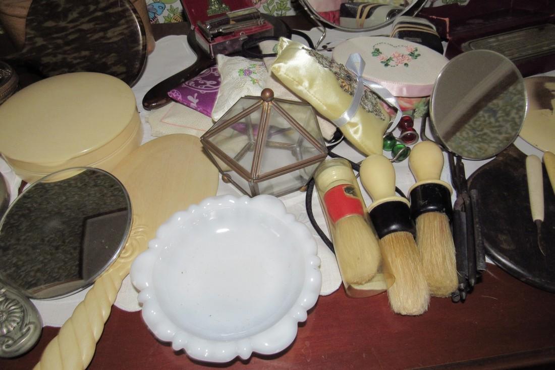 Vanity Mirrors Shaving Brushes Trinket Boxes - 3