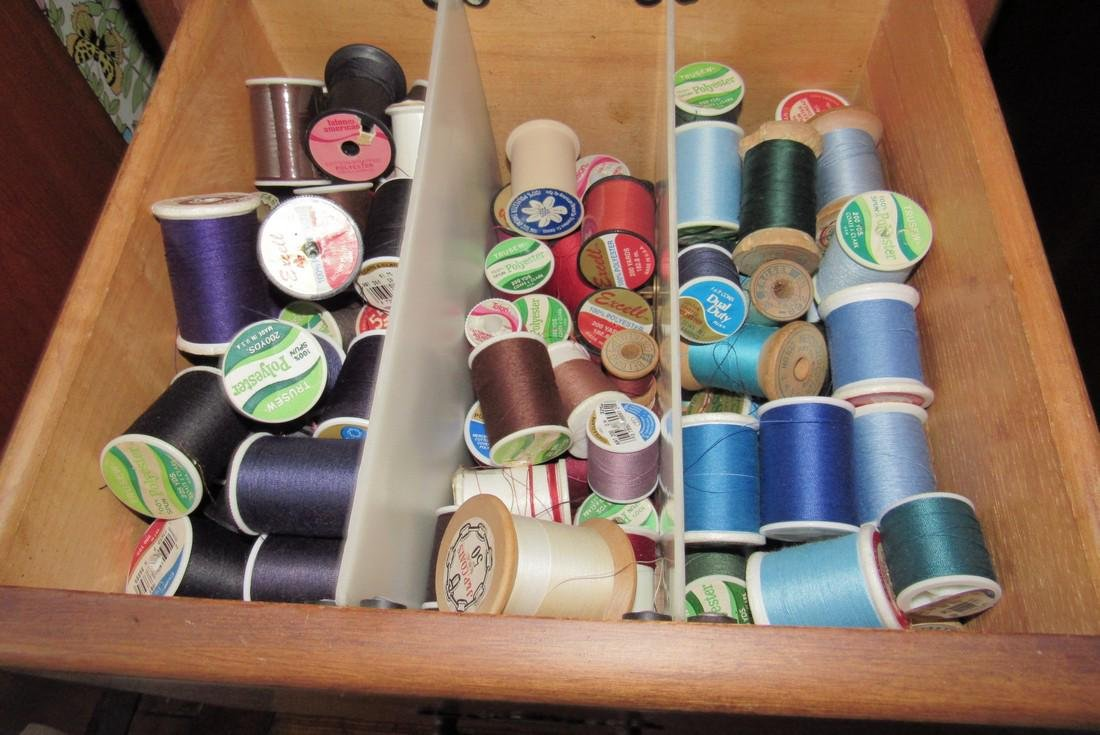 3 Drawer Cabinet Sewing Thread Patterns Material - 3