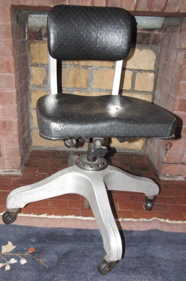 Vintage Industrial Aluminum Desk Chair