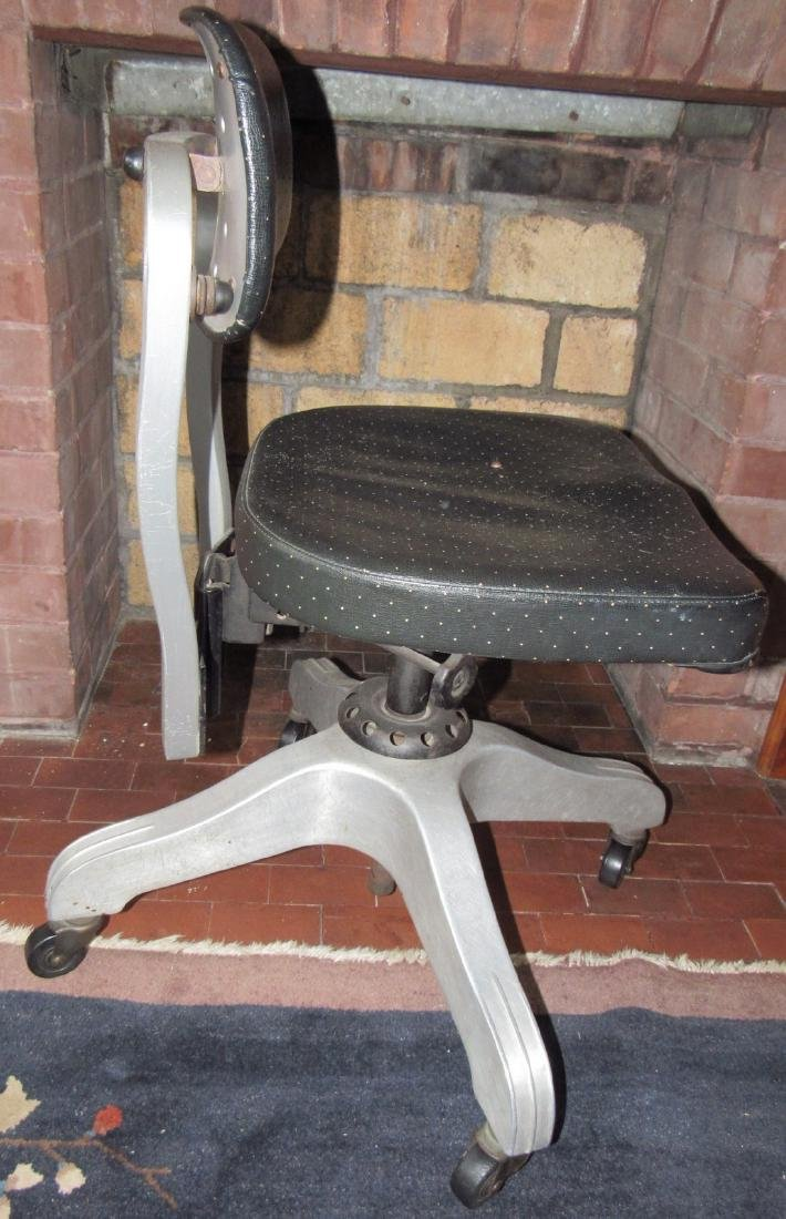 Vintage Industrial Aluminum Desk Chair - 2