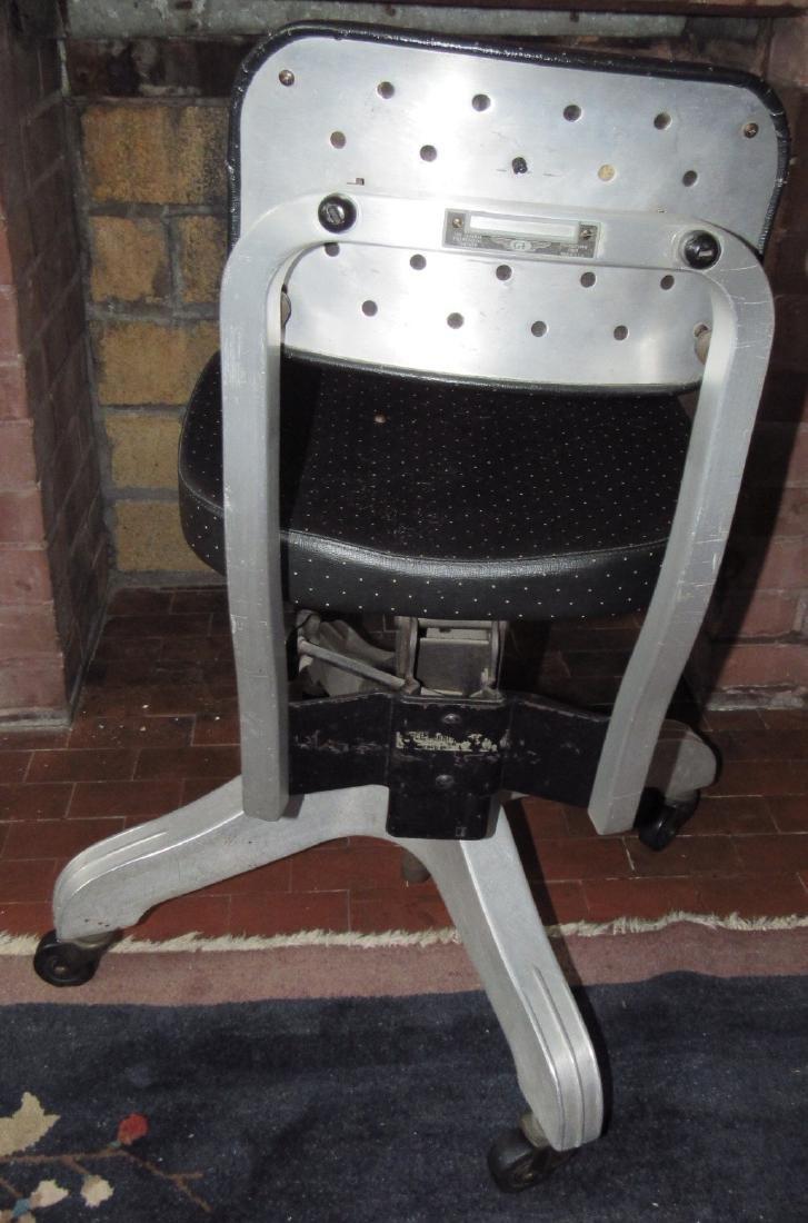 Vintage Industrial Aluminum Desk Chair - 3