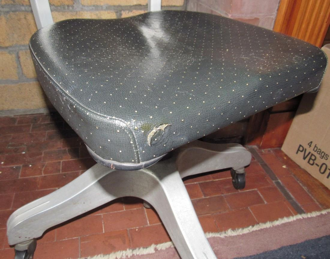 Vintage Industrial Aluminum Desk Chair - 5