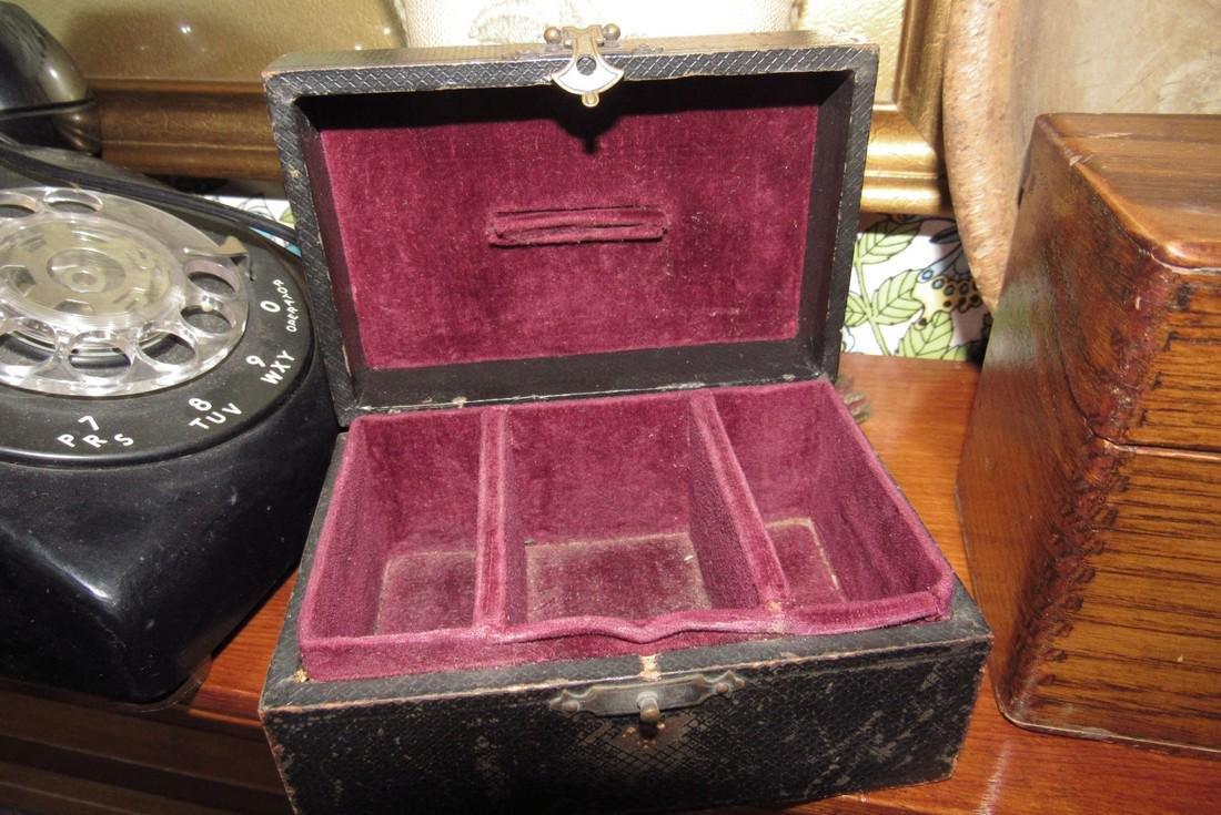 Document Index Card Box Rotary Telephone Sad Iron - 5