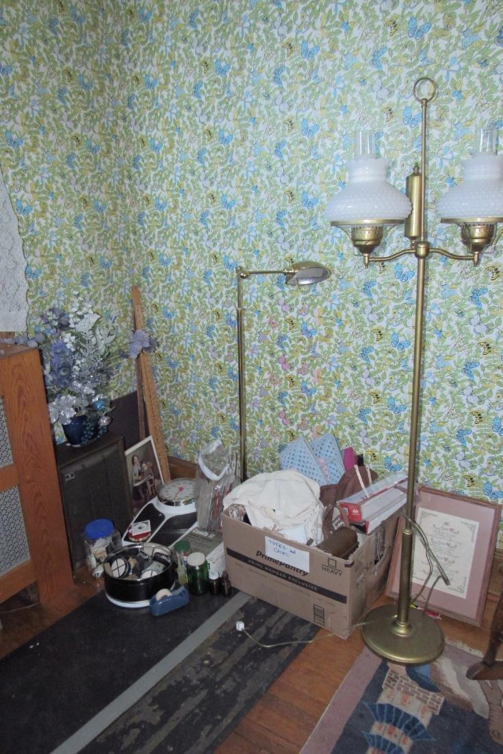 Partial Bedroom Contents Floor Lamps Yardsticks