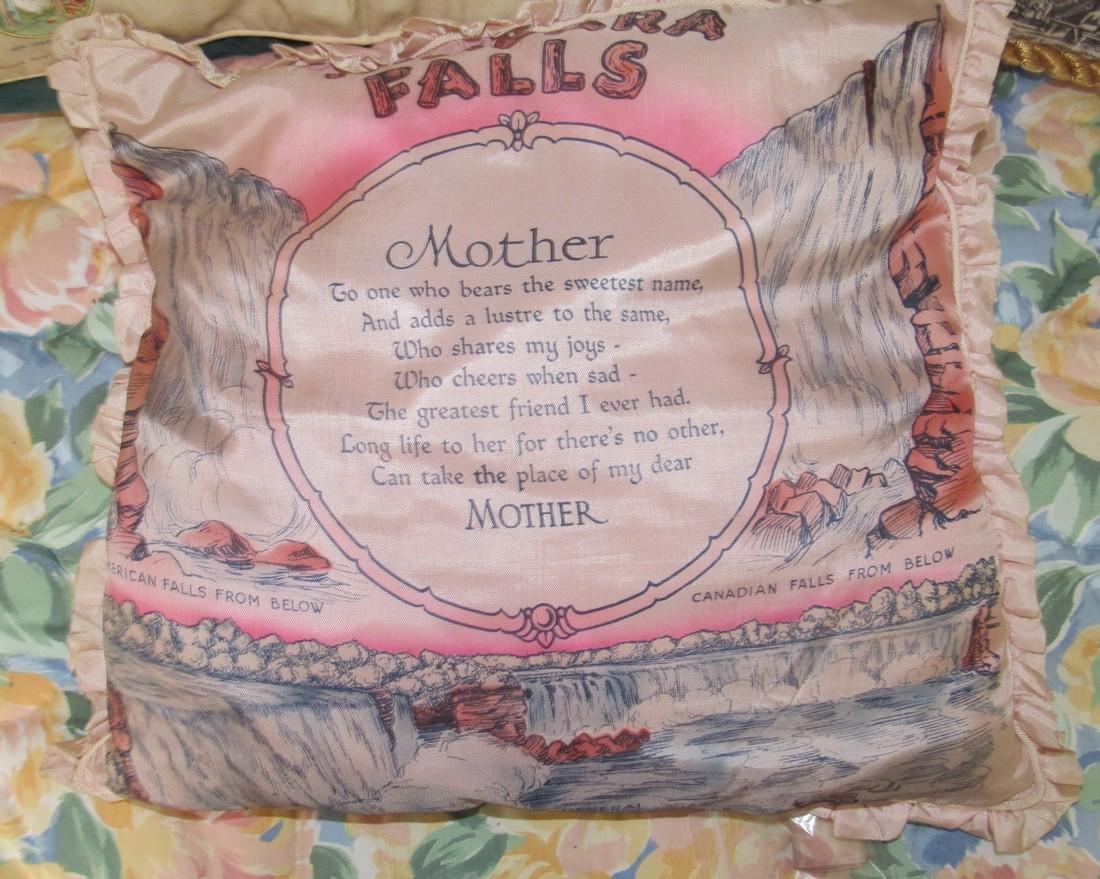 US Flags Seals Camp Davis & Niagra Falls Pillows - 4