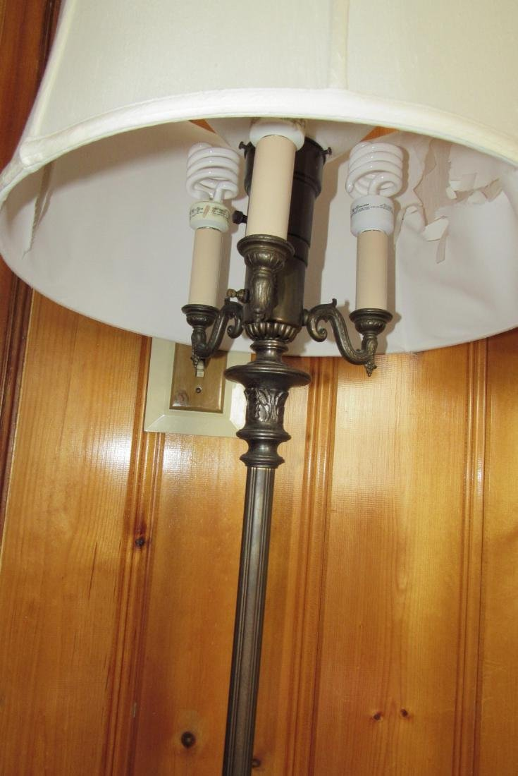 Iron & Wooden Floors Lamps w/ Vintage Step Stool - 2