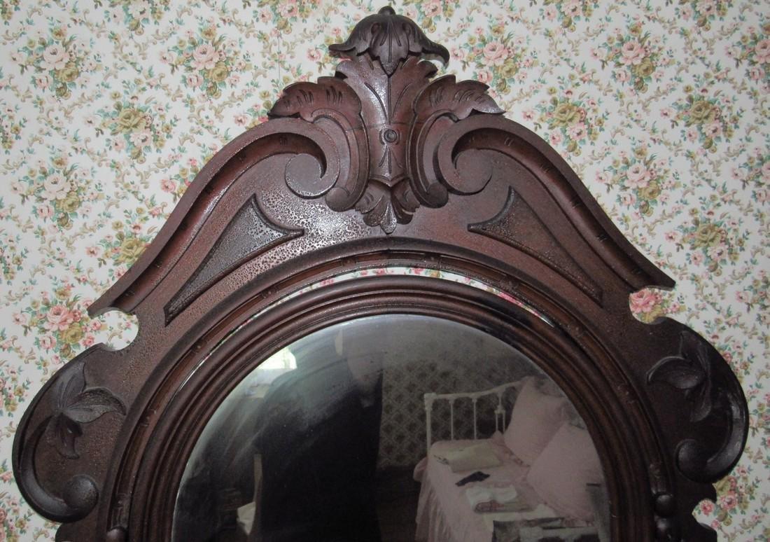 Walnut Victorian Marble Top Dresser with Mirror - 2