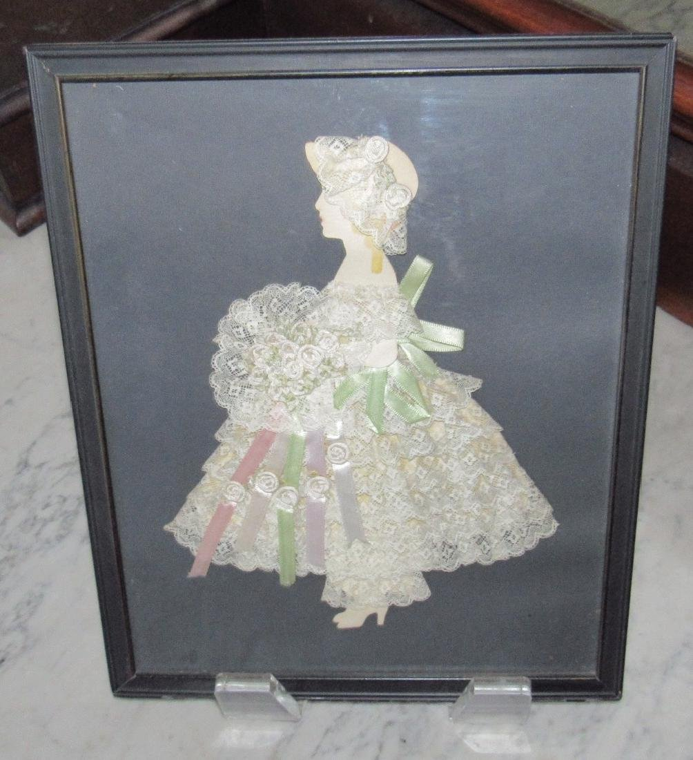 Framed Cut Out Doll