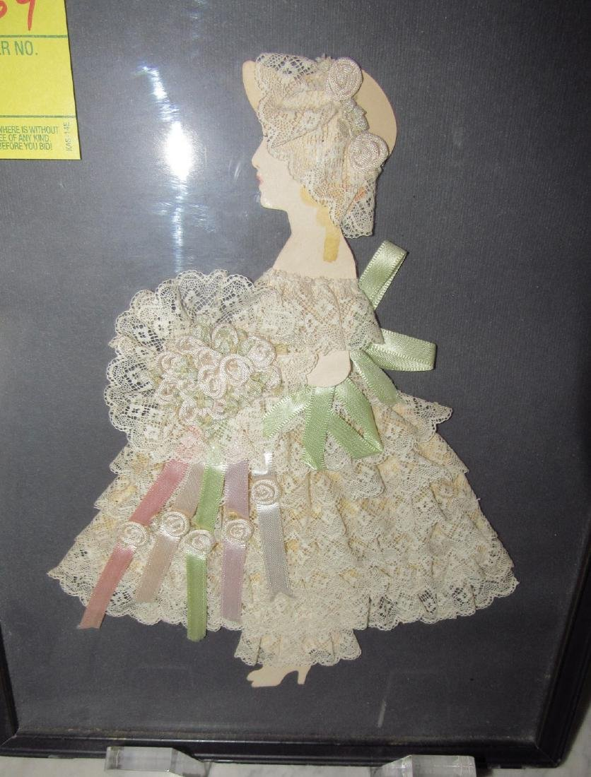 Framed Cut Out Doll - 2