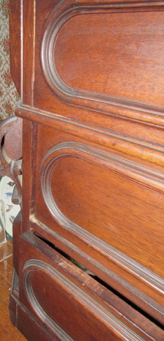 Walnut Victorian Dresser with Marble Top - 5