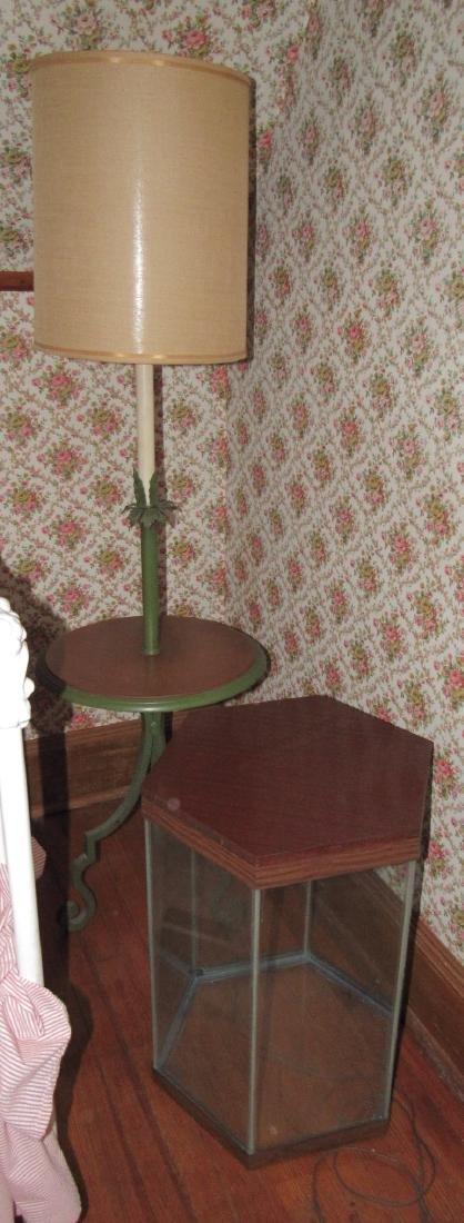Cast Iron Base Lamp Stand & Aquarium
