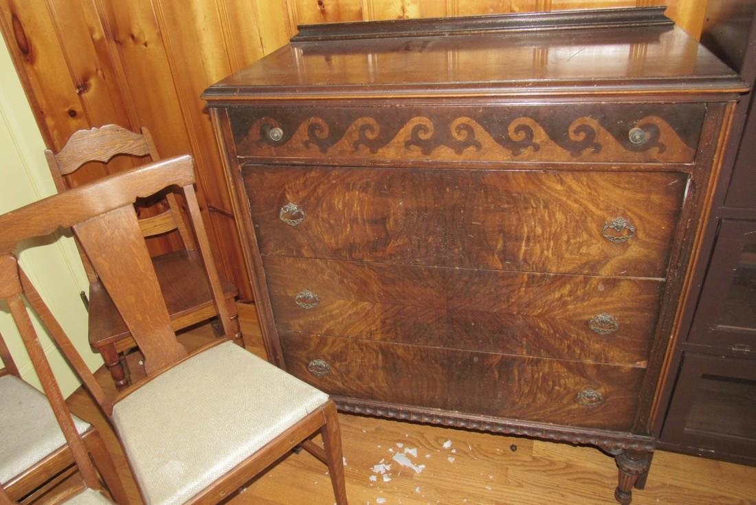 Art Deco Style Dresser and 4 Oak Chairs - 2