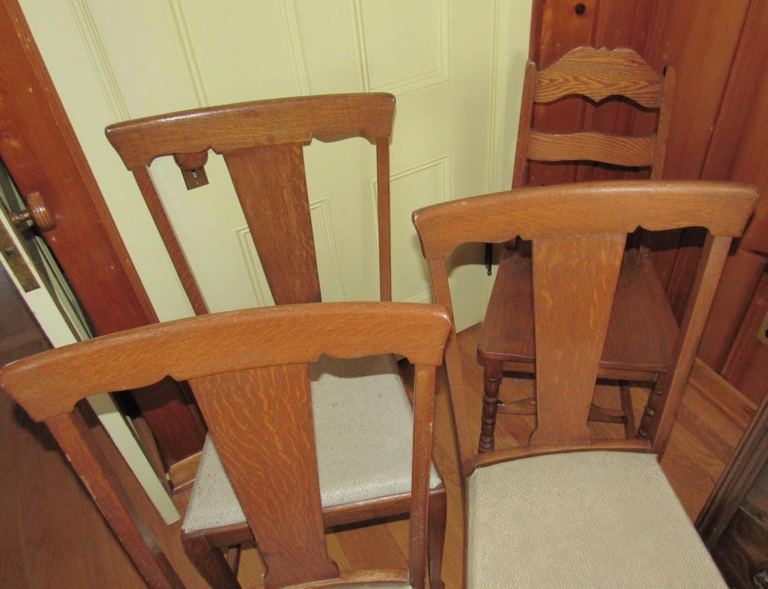 Art Deco Style Dresser and 4 Oak Chairs - 3