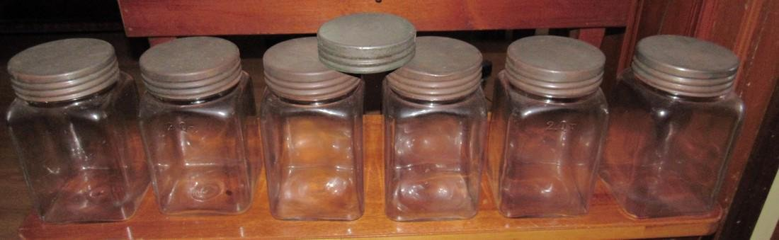 6 Glass 2 Qt Canisters