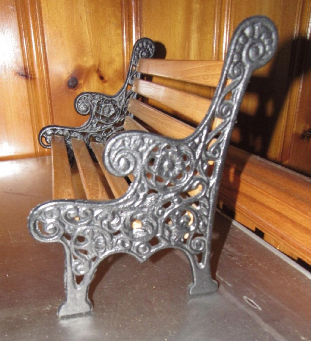 Cast Iron & Wood Doll Bench - 2