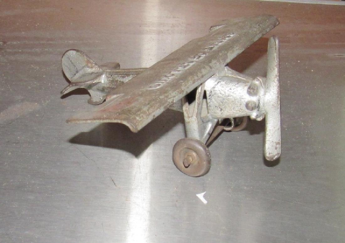 Antique Spirit Of St Louis Cast Iron Airplane