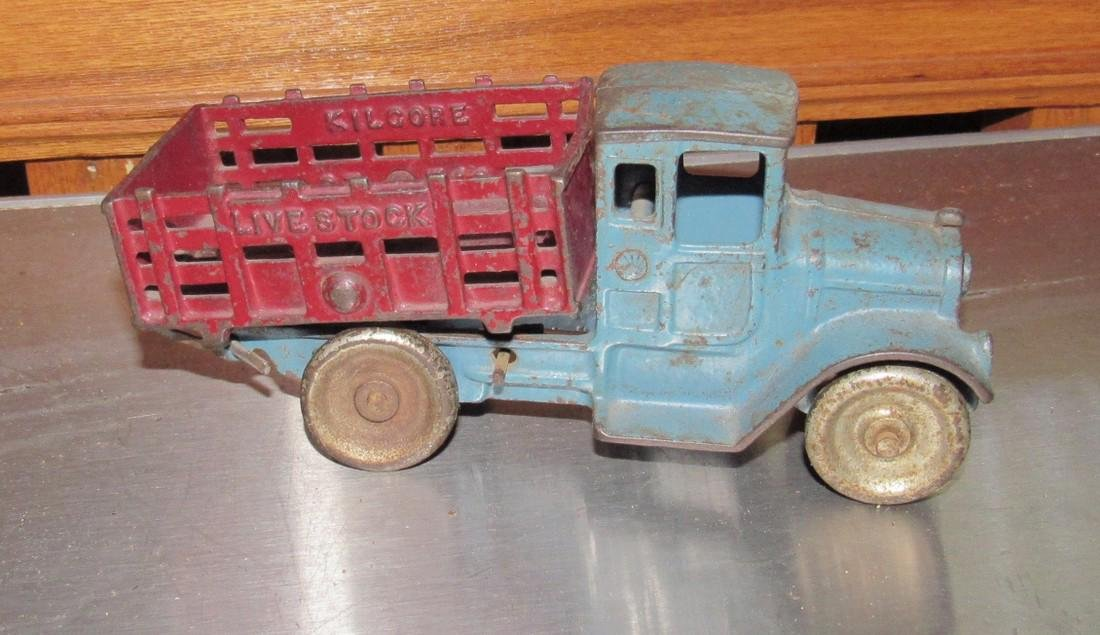Cast Iron Toy Live Stock Truck