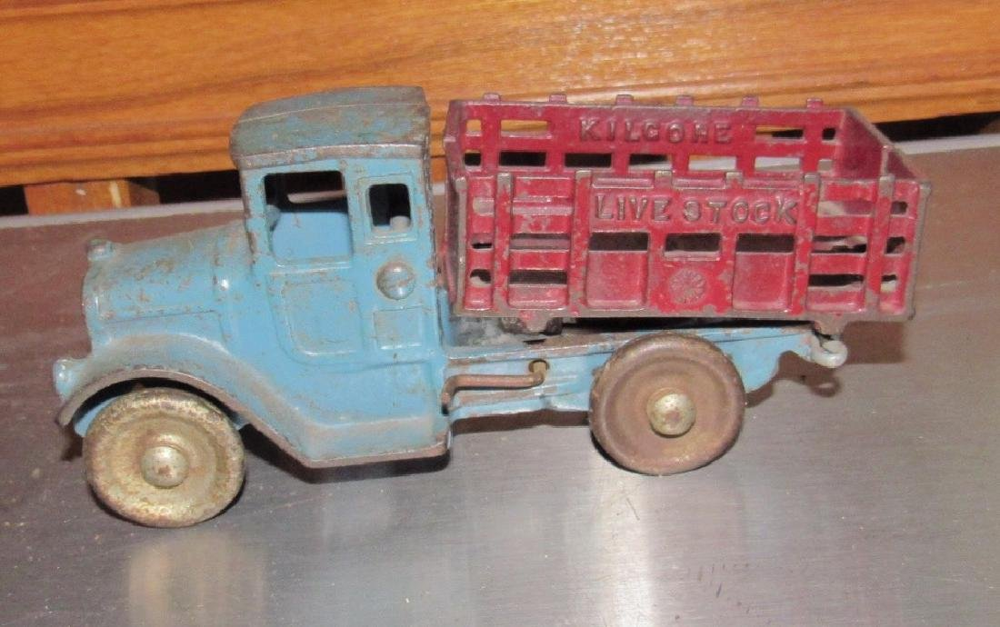 Cast Iron Toy Live Stock Truck - 3