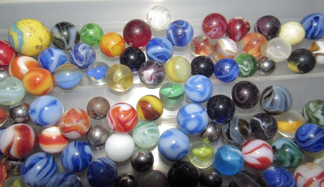 Large Lot Of Marbles - 7