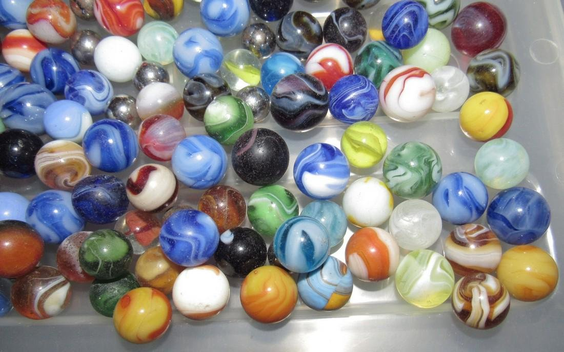 Large Lot Of Marbles - 9