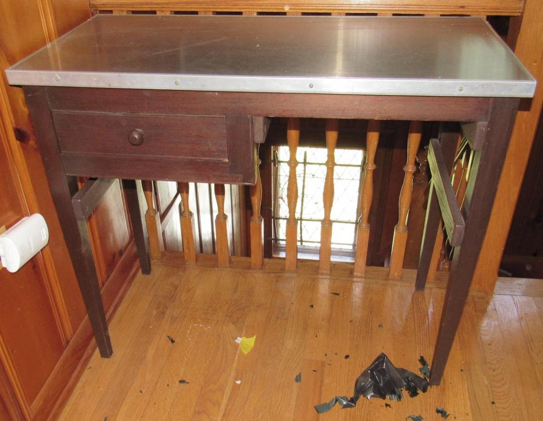 Stainless Steel Top Desk