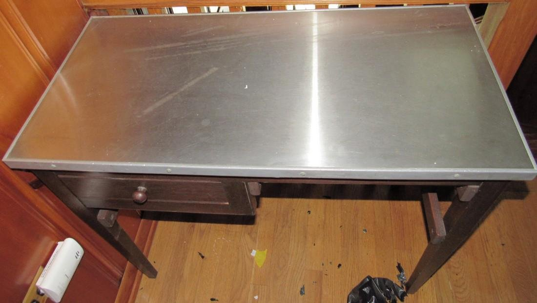 Stainless Steel Top Desk - 3