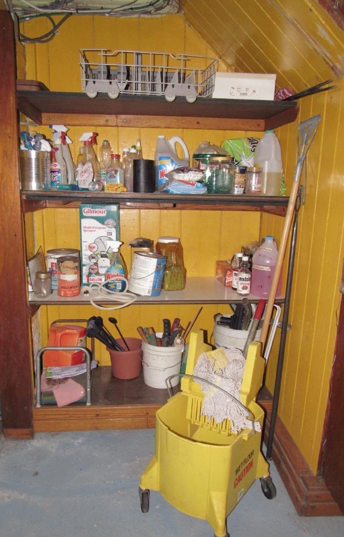 Mop Bucket & Shelf Contents