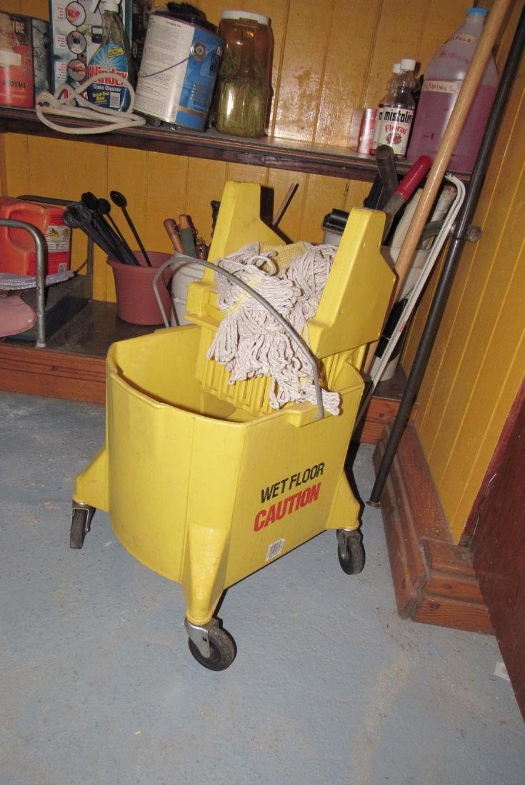 Mop Bucket & Shelf Contents - 2