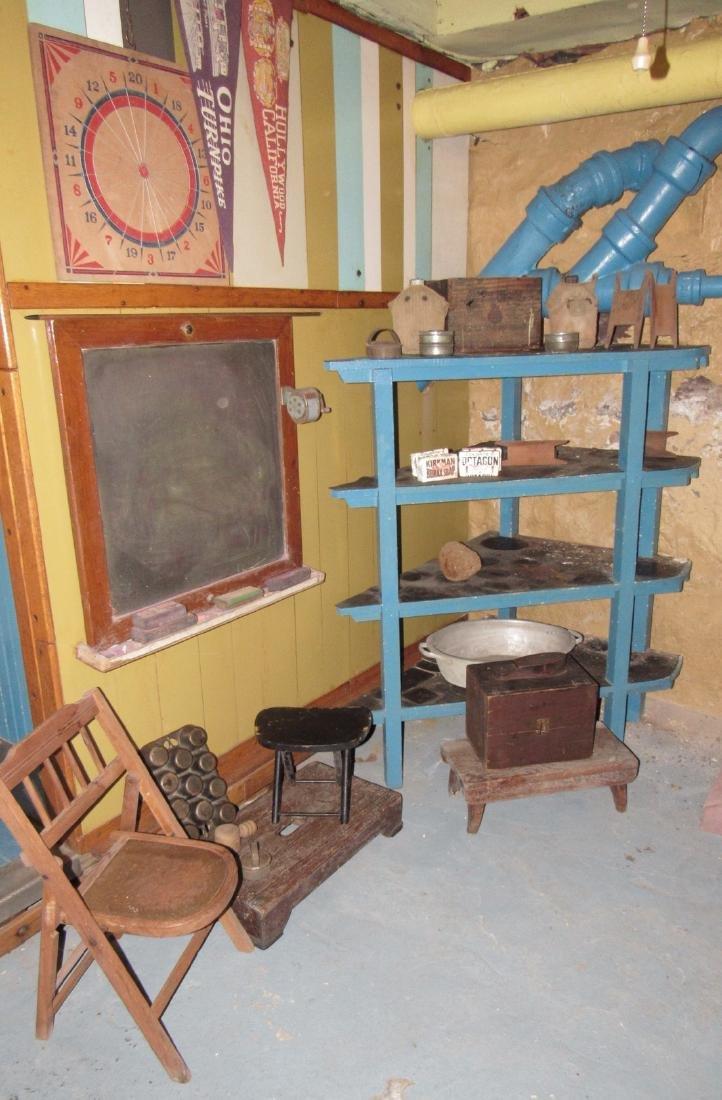 Corner Shelf Chalkboard Pennants Muffin Pan Bench