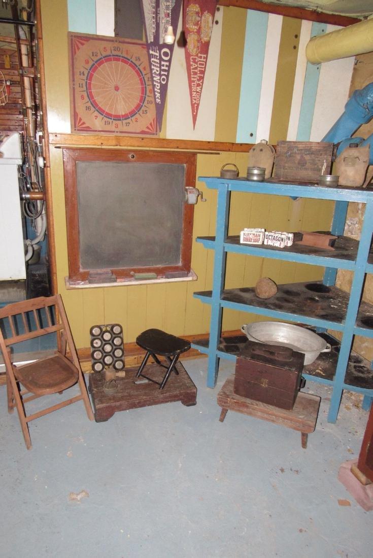 Corner Shelf Chalkboard Pennants Muffin Pan Bench - 2