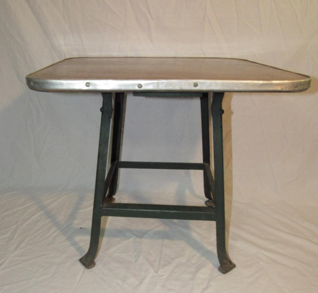 Vintage Industrial Stool Made into Childrens Table