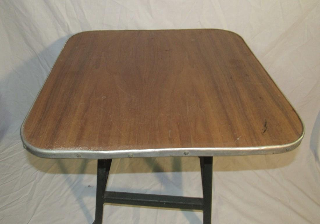 Vintage Industrial Stool Made into Childrens Table - 2