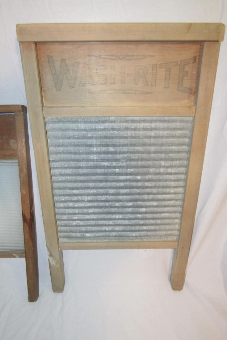 3 Antique Washboards - 3