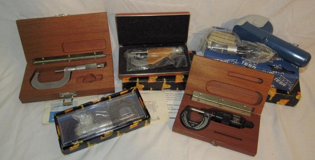 Brown & Sharpe Starrett Machinist Micrometers