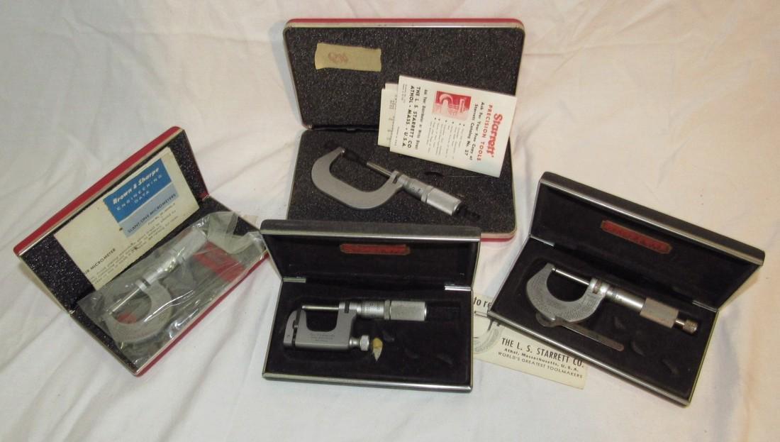 Starrett Micrometers No. (2) 230 220 & 2