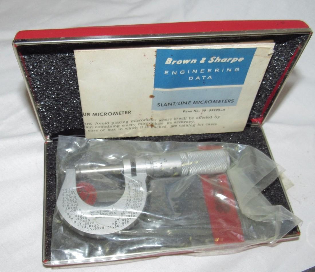 Starrett Micrometers No. (2) 230 220 & 2 - 2