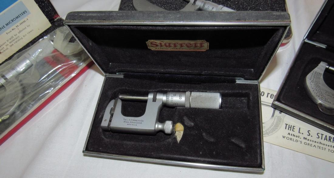 Starrett Micrometers No. (2) 230 220 & 2 - 3