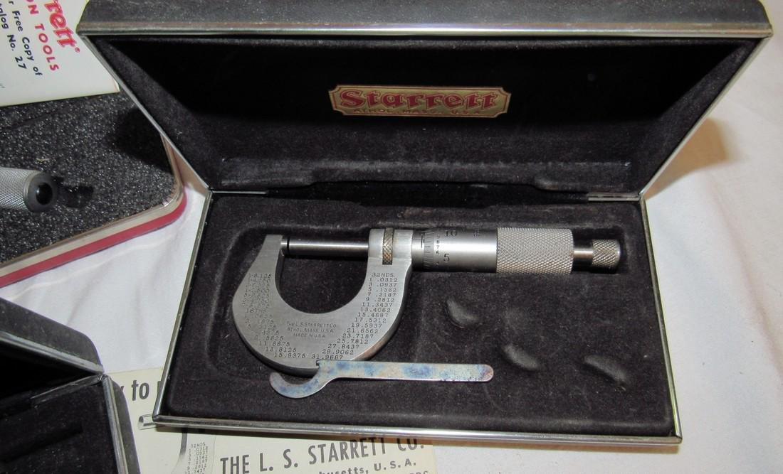 Starrett Micrometers No. (2) 230 220 & 2 - 4