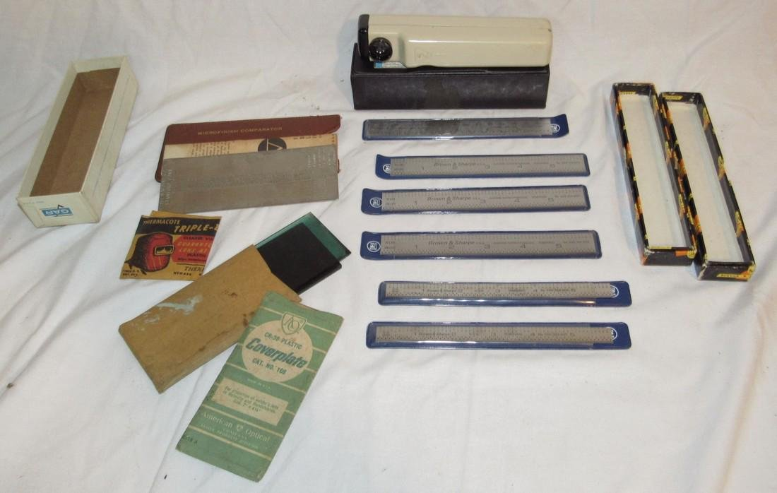 Brown & Sharpe Steel Rules No. 599-314-605 599-323-605