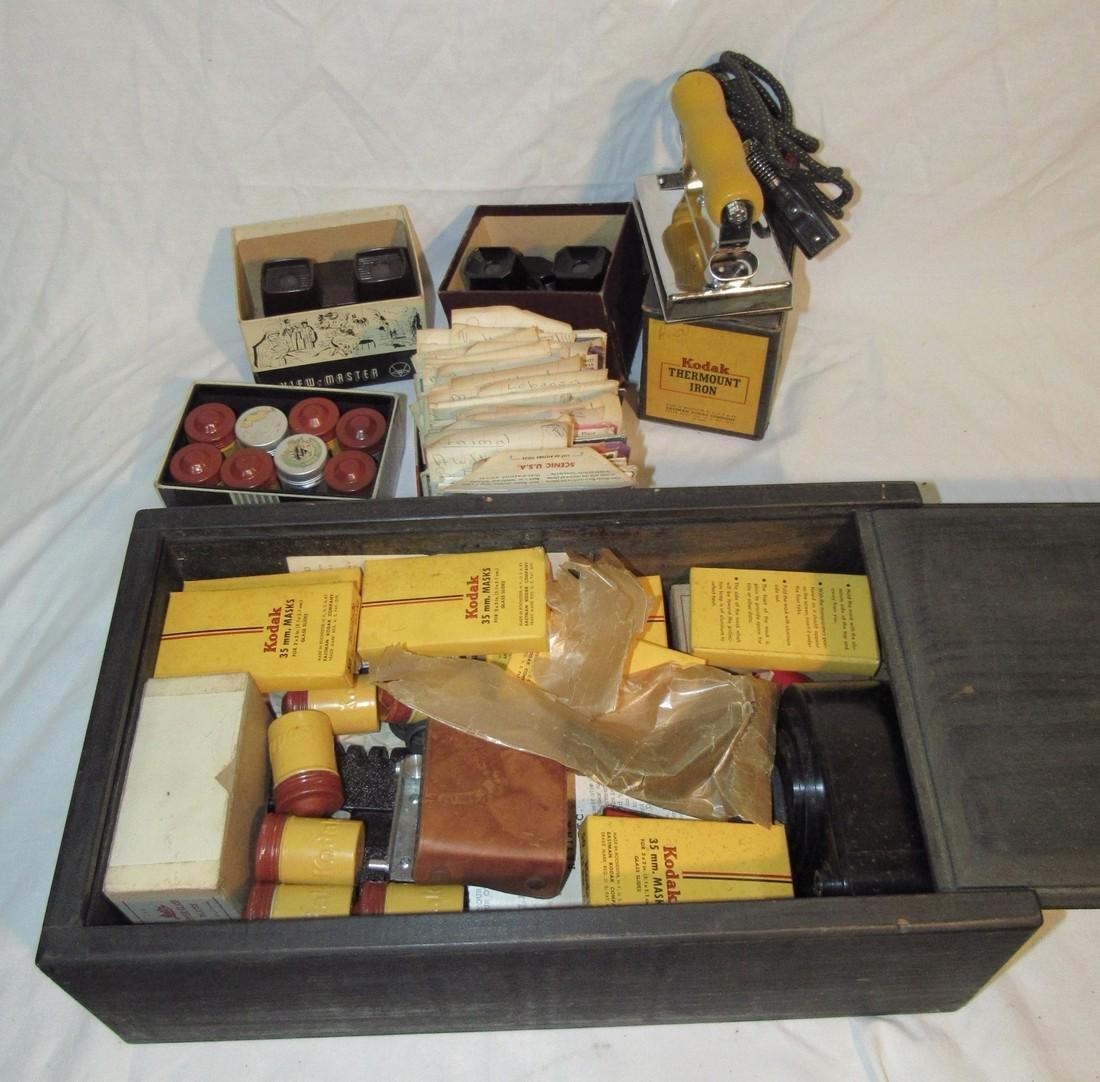2 View Masters Kodak Thermount Iron & Photo Supplies