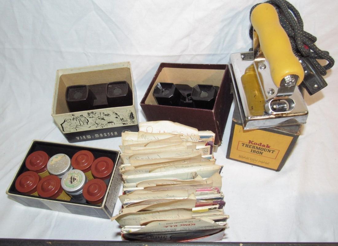 2 View Masters Kodak Thermount Iron & Photo Supplies - 3