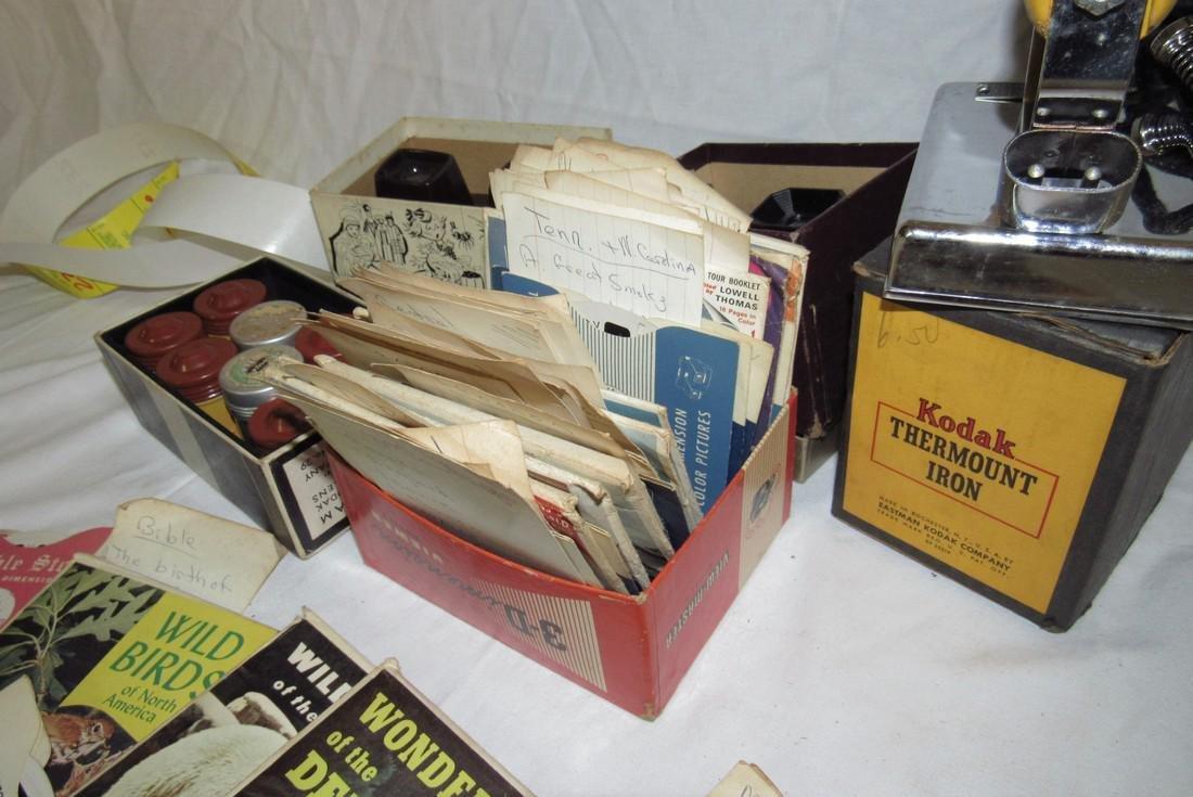 2 View Masters Kodak Thermount Iron & Photo Supplies - 8