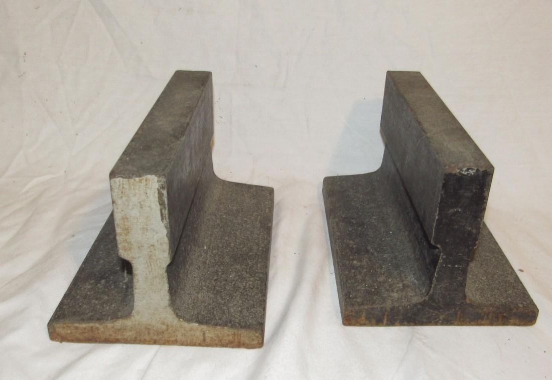 2 Steel Beam Anvils - 2