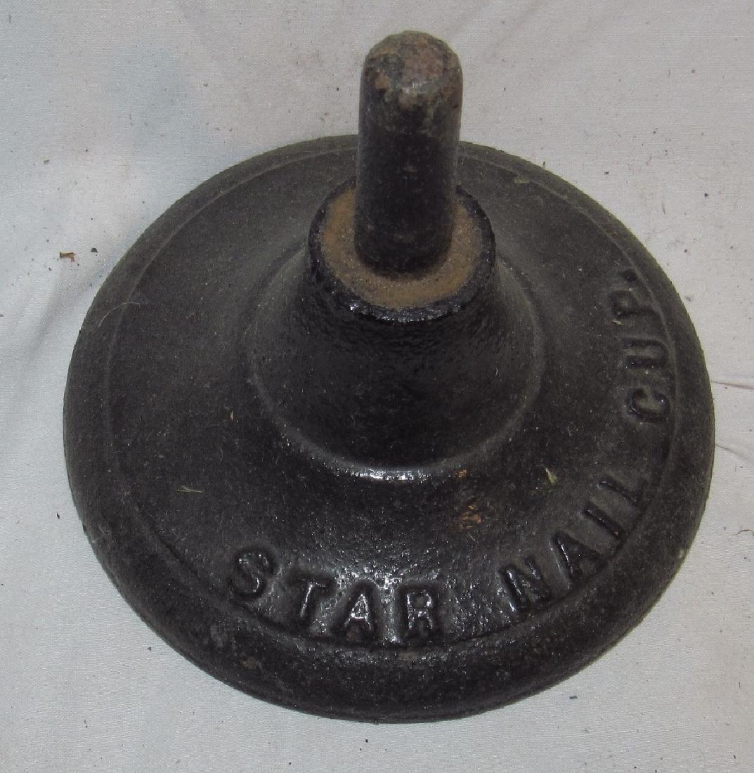 Star Nail Cobblers Rotating Parts Bin and Cast Iron - 3