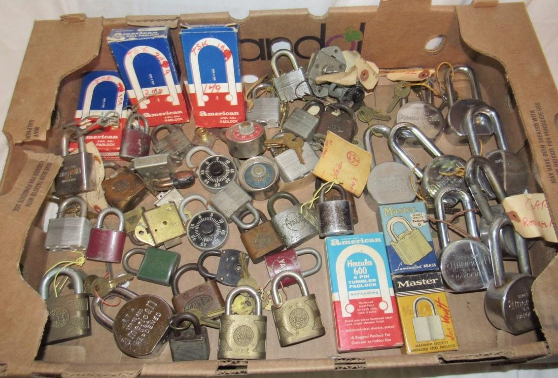 Lot of Vintage Locks